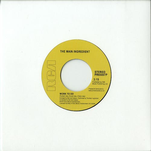 Work to Do / Instant Love - Main Ingredient - PR65007P